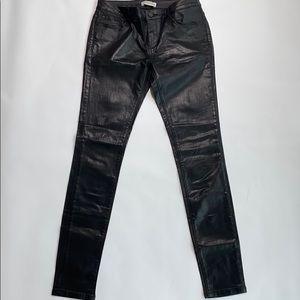 Zara faux leather pant size 4
